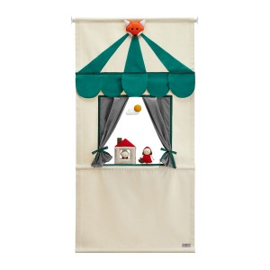 LITTLE RED RIDING HOOD PUPPET DOORWAY THEATER SET